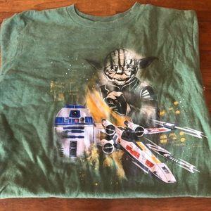 Disney Star Wars Yoda Kids Sz 10/12 T-shirt